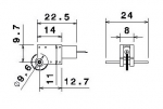 2.4Volt 7mm 46:1 Drivemotor Dimensions like GL1-46-7 M0,2 M700G4
